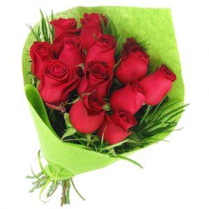 bouquet 12 rose rouge
