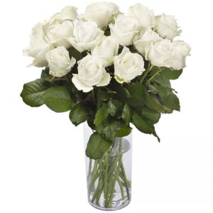 bouquet 12 roses blanche